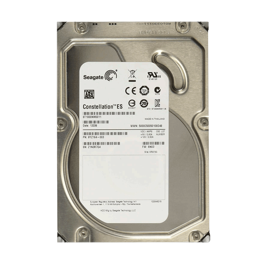 Disco Duro Interno Seagate Constellation 3.5'', 1TB, SATA, 7200RPM PULL