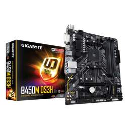 [B450M DS3H/NEW] Tarjeta Madre Gigabyte micro ATX B450M DS3H (rev. 1.0), S-AM4, AMD B450, HDMI, 64GB DDR4 para AMD